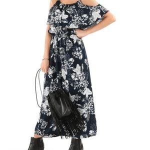 Milly Penzance Cold-Shoulder Maxi Dress